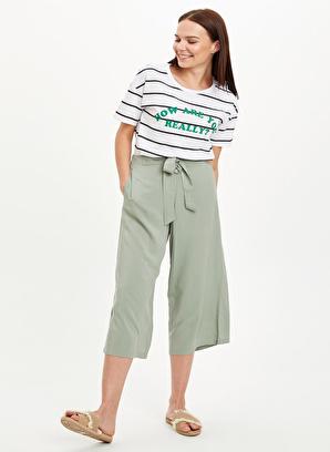 DeFacto Culotte Bel Bağcıklı Dokuma Pantolon